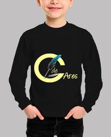 Circulo de Ares camiseta m/corta niño logo amarillo pastel