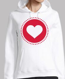 círculo de corazones rojos