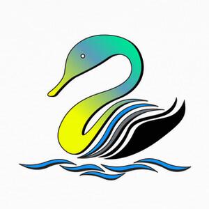 Camisetas cisne estilizado