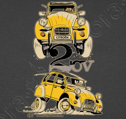 tee-shirt citroen 2cv