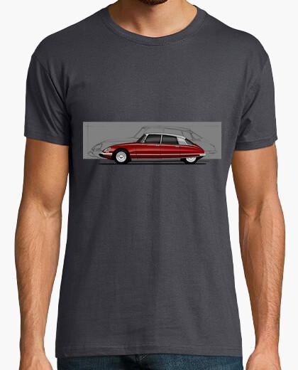 Camiseta Citroen DS Silueta rojo