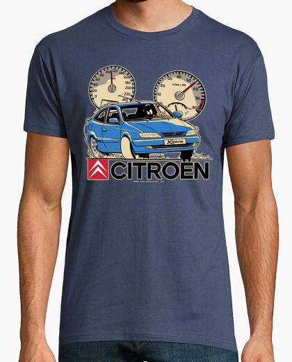 Tee-shirt citroen xsara blue