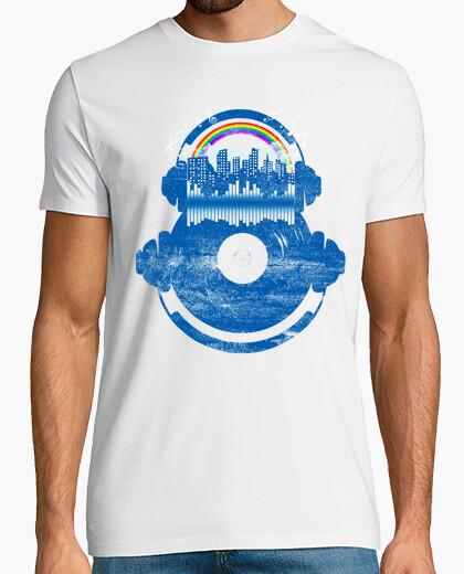 T-shirt città della musica e arcobaleno