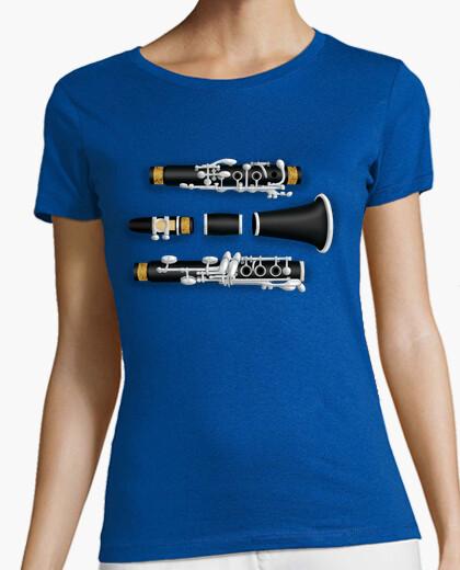 Camiseta Clarinete desmontado