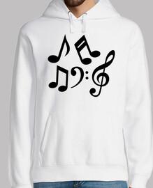 clave de notas musicales