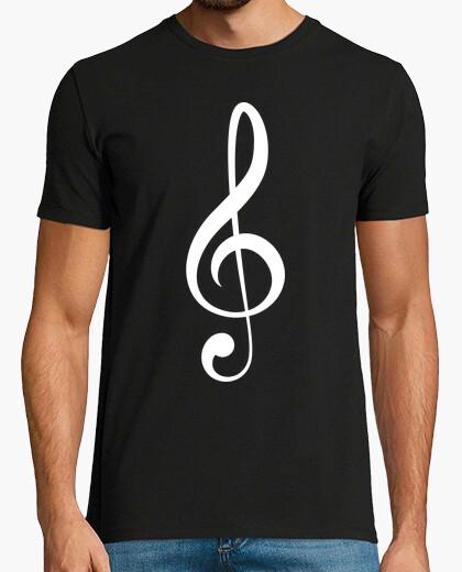 Camiseta Clave de Sol (blanco)
