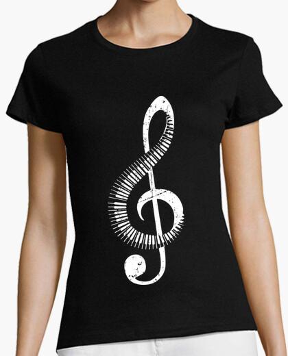 Camiseta Clave De Sol Piano