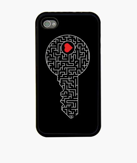 Coque iPhone clé de votre cœur (argent)