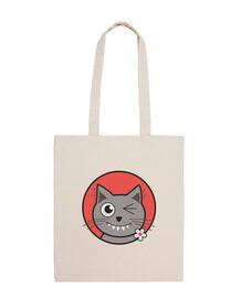 clignement mignon sac de chat