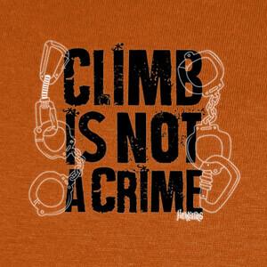 Camisetas Climb is not a crime