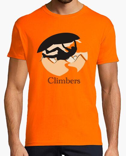 Camiseta Climbers techo Hombre, manga corta, naranja, calidad extra