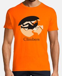 Climbers techo Hombre, manga corta, naranja, calidad extra