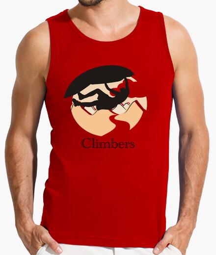 Camiseta Climbers techo Hombre, sin mangas, roja
