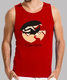 Climbers techo Hombre, sin mangas, roja
