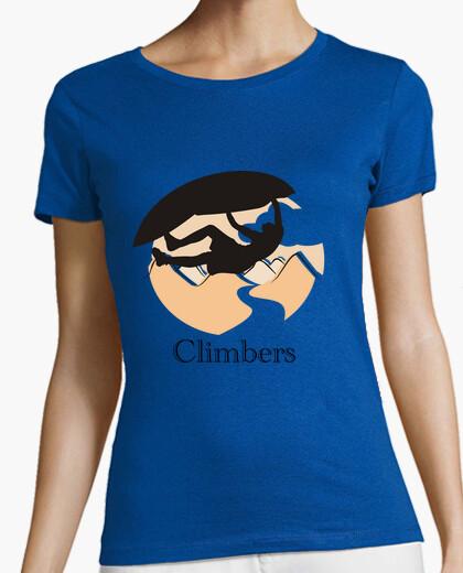 Camiseta Climbers techo Mujer, manga corta, verde, calidad premium