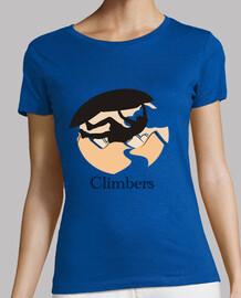 Climbers techo Mujer, manga corta, verde, calidad premium