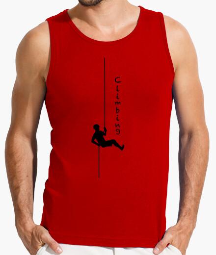 Camiseta Climbing descuelge Hombre, sin mangas, roja