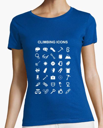Camiseta Climbing icons
