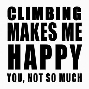 climbing makes me happy b T-shirts