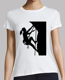 climbing woman girl