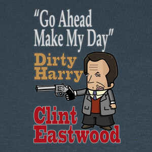 Camisetas CLINT EASTWOOD. DIRTY HARRY