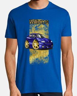 Clio Williams cartoon blue