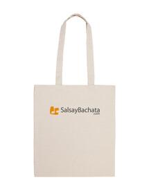 cloth bag colored logo salsaybachata.com