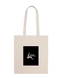 cloth bag for christmas - jumping deer