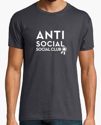 Camiseta clubes sociales antisociales blanco