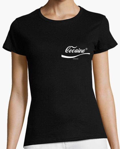 Camiseta Cocaine classic white logo