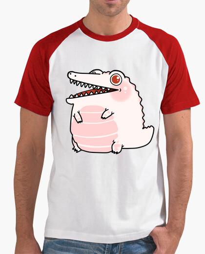 T-shirt coccodrillo bianco