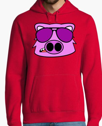 Sweat cochon visage griffonnage