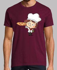 Cocinero pizza - camiseta hombre