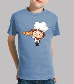 Cocinero pizza - camiseta niño