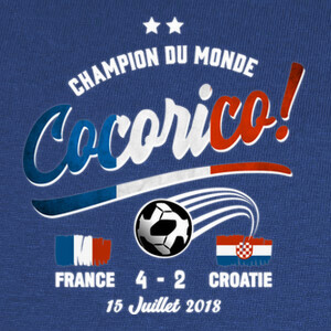Tee-shirts Cocorico copa del mundo 2018
