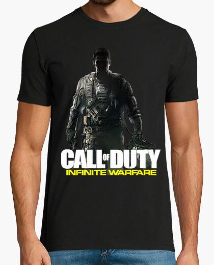Camiseta COD Infinite Warfare logo blanco