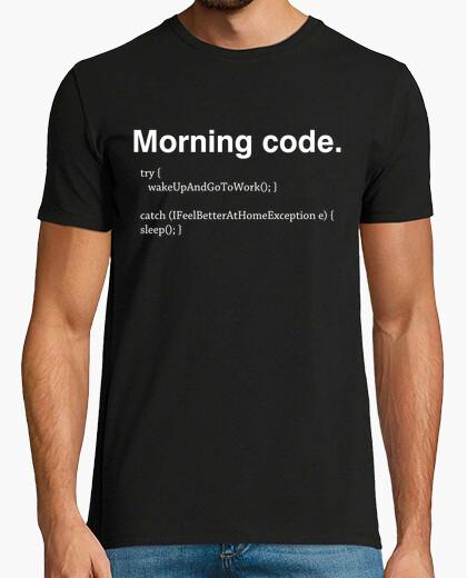 T-shirt codice di mattina