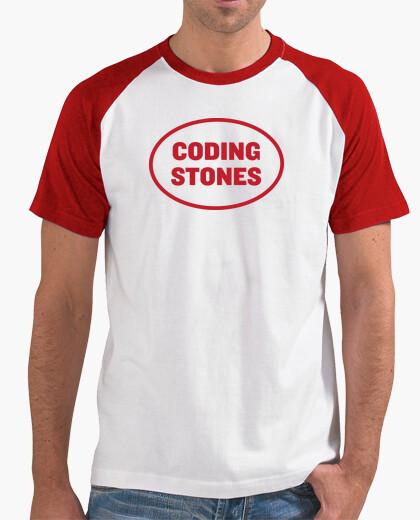 Camiseta Coding Stones logo rojo