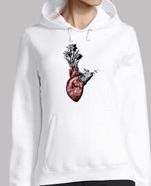 coeur d'animal, des cerfs et des fleurs