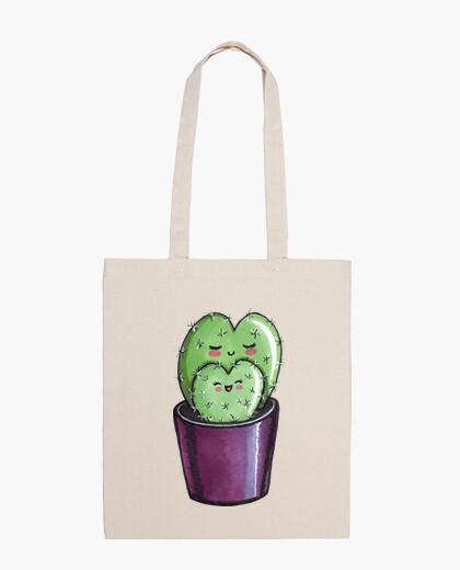 Sac coeur de cactus maman