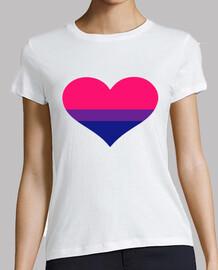 coeur de drapeau bisexuel