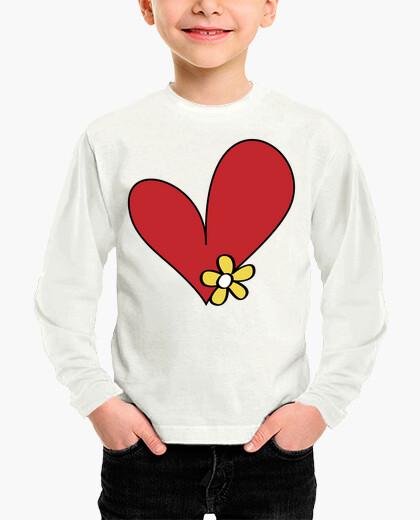 Vêtements enfant coeur de fleur