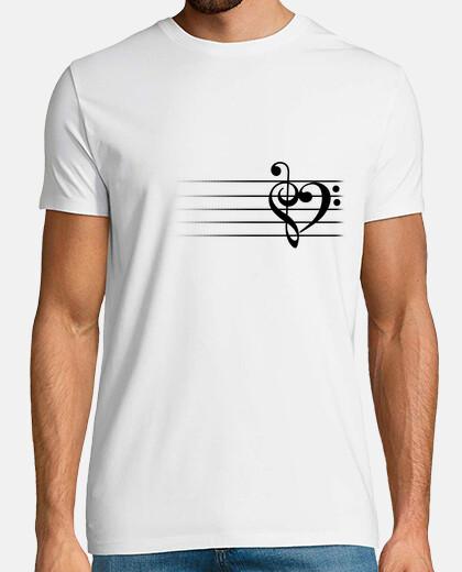coeur de la musique - t-shirt de l'homme