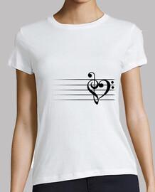 coeur de la musique - t-shirt femme