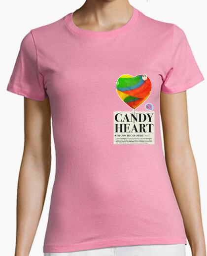 Tee-shirt coeur de sucrerie femme