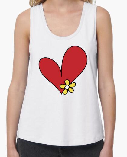 Tee-shirt coeur fleurs