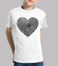 coeur imprimé en noir