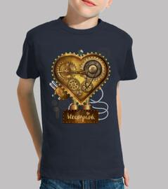 coeur métallique steampunk