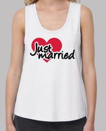 coeur rouge juste marié
