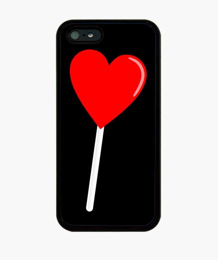 Coque iPhone coeur sucette